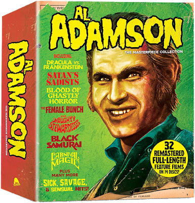 A front glimpse of Severin Film's massive 32-film AL ADAMSON: THE MASTERPIECE COLLECTION Blu-ray set!