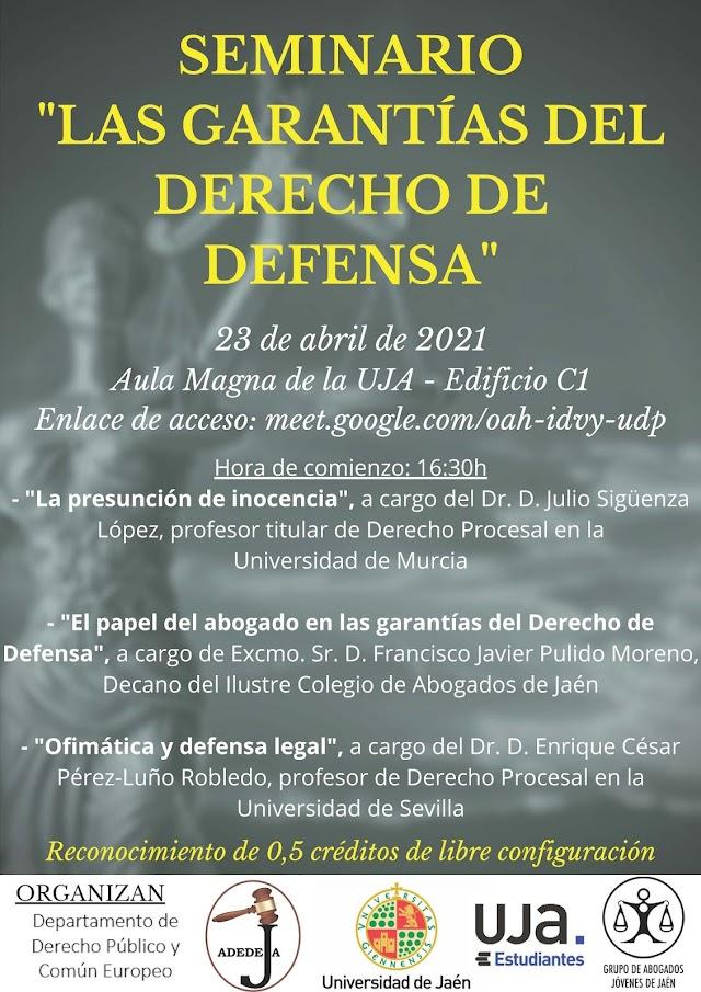 Seminario las Garantías del Derecho de Defensa a Debate