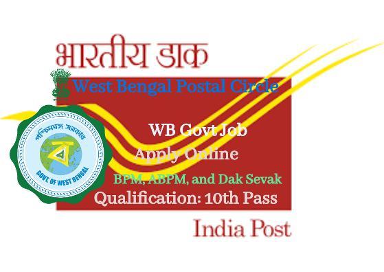 2357 Gramin Dak Sevaks (GDS) Recruitment in West Bengal Circle, Online Application Form 2021.