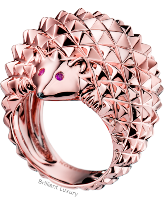 Brilliant Luxury♦Boucheron Paris Hans Hedgehog rose gold ring