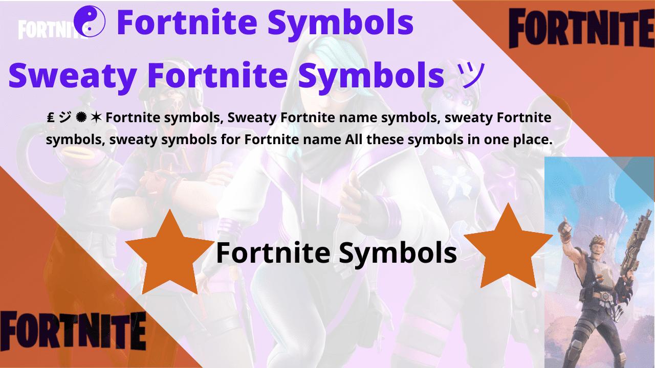 fortnite symbolss