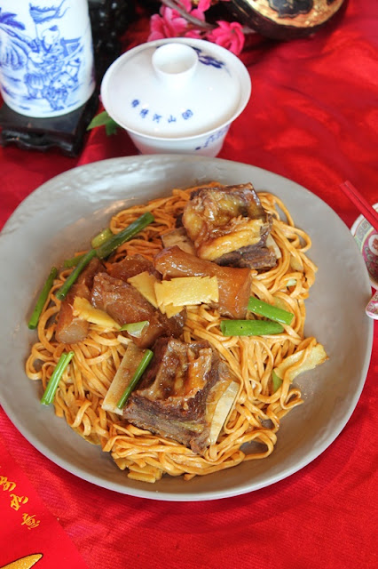 SUNWAY RESORT CAFE CHINESE NEW YEAR 2021  - Slow-Stewed Beef Short Ribs _ Tendon on E-Fu Noodle
