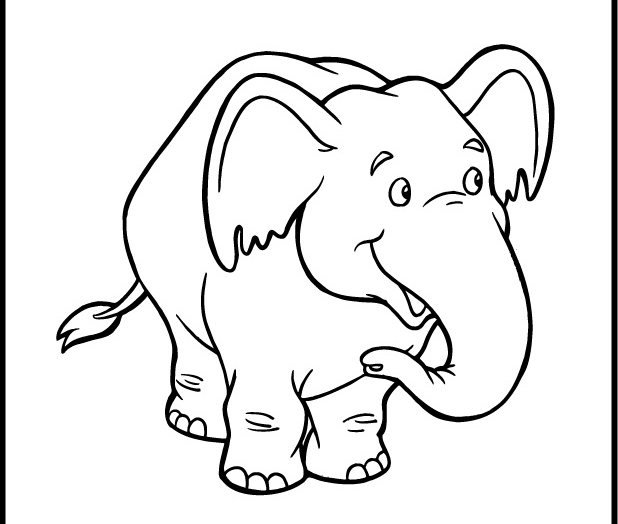 cute baby elephant coloring pages - baby elephant coloring pages animal