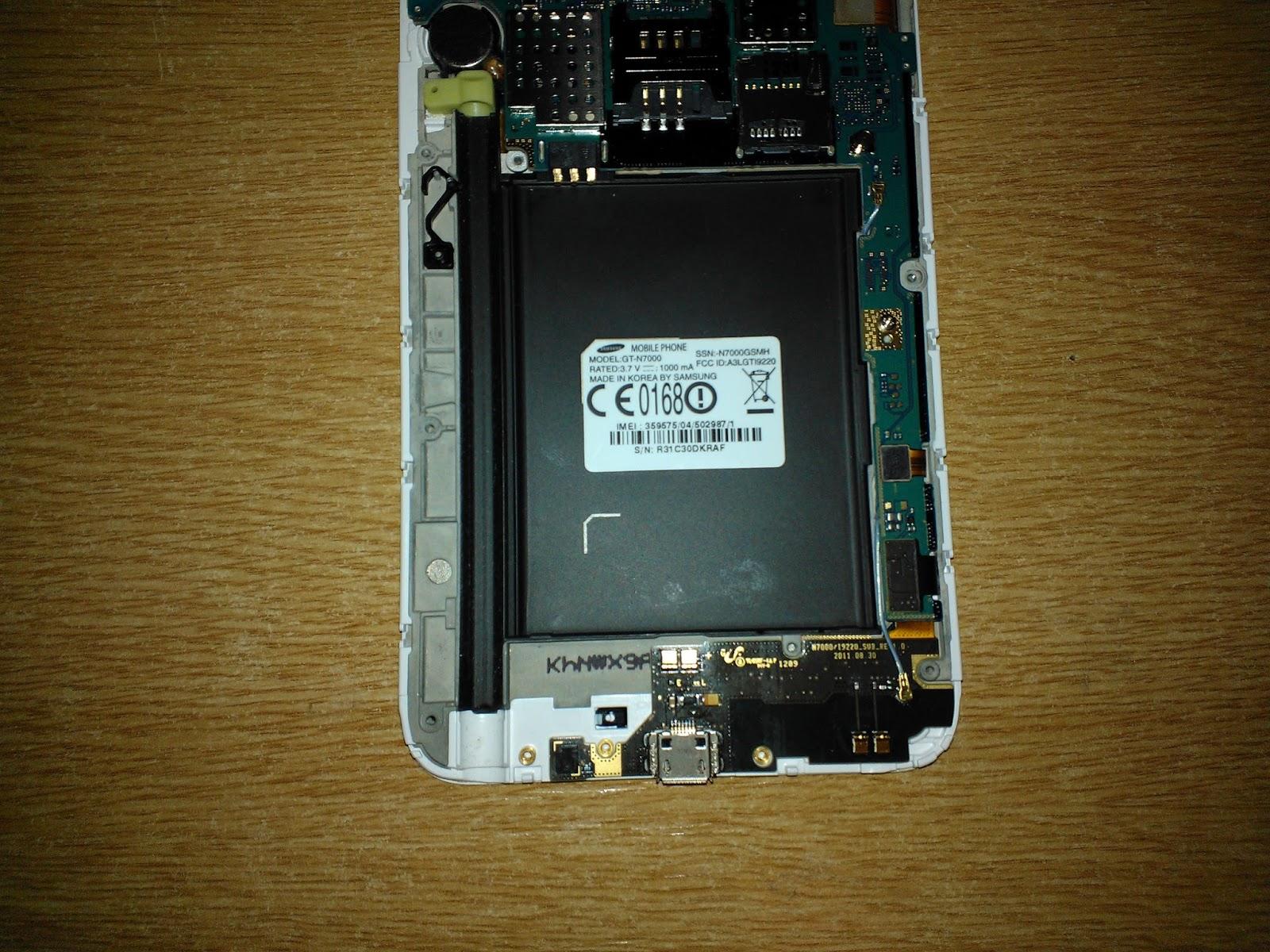 Samsung Galaxy Note 1 charging problems and repair | Adamok Net