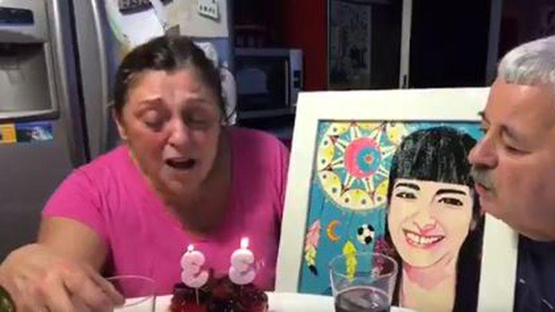 El conmovedor video de Titi Fernández y su esposa festejando el cumpleaños de su hija Soledad