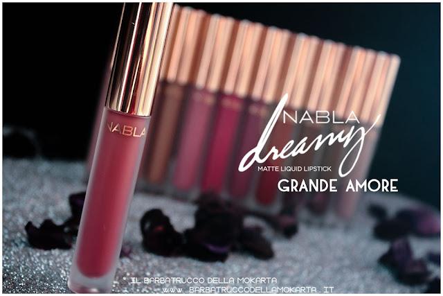 grande amore Dreamy Matte Liquid Lipstick rossetto liquido nabla cosmetics