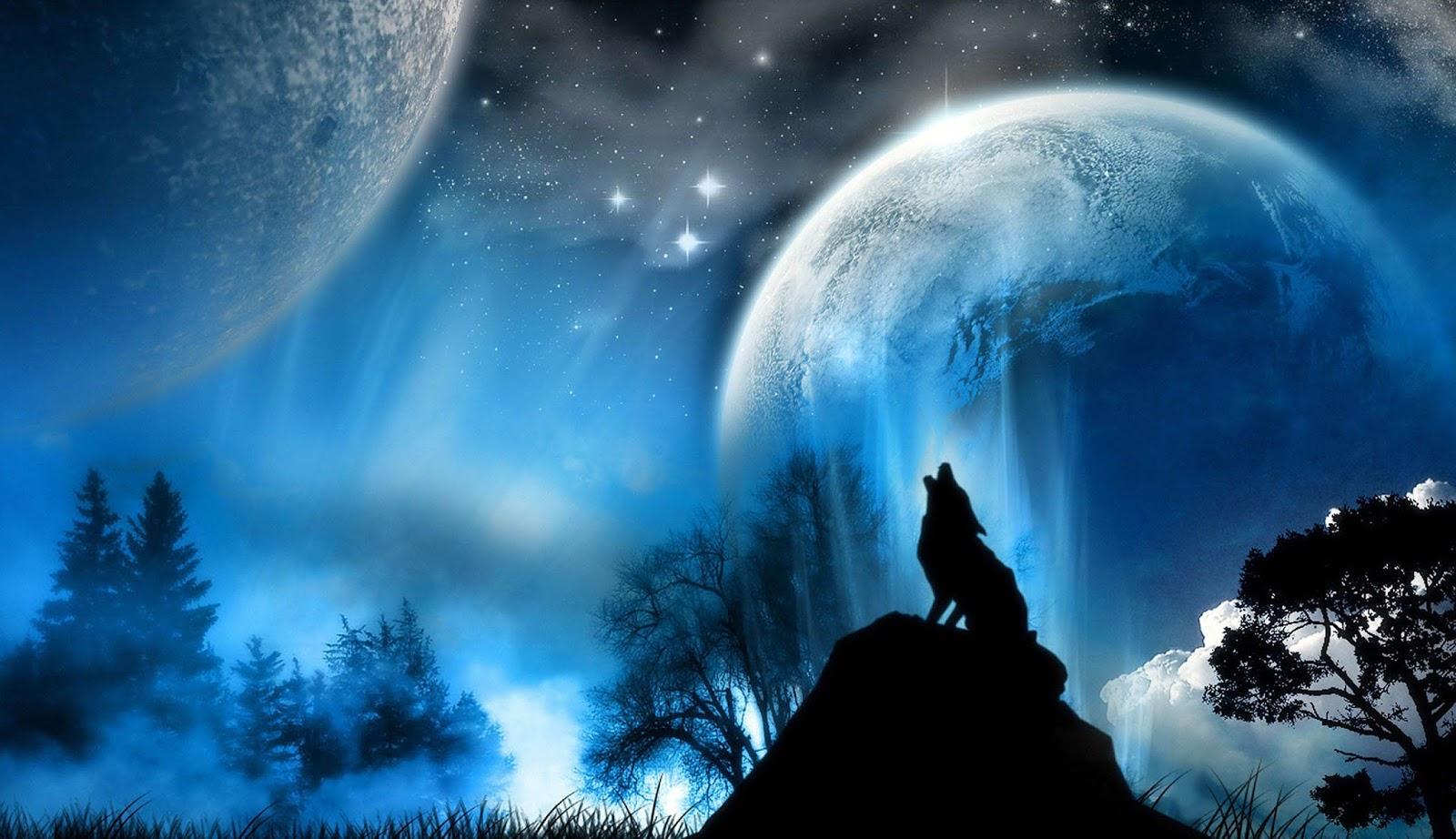 3d nature wallpaper moon - photo #39