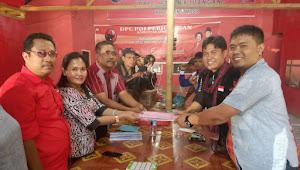 IWO dan JOIN Antar FenHo Daftar Calon Bupati ke PDIP Samosir