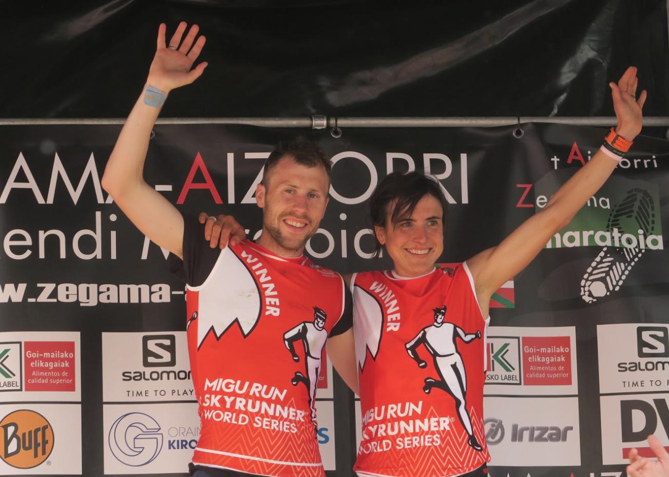 Stian Angermund y Maite Maiora establecen los nuevos récords en Zegama-Aizkorri