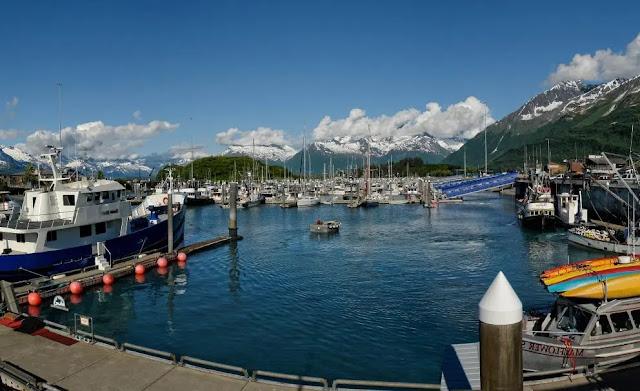 Valdez Boat Harbor in Valdez, Alaska