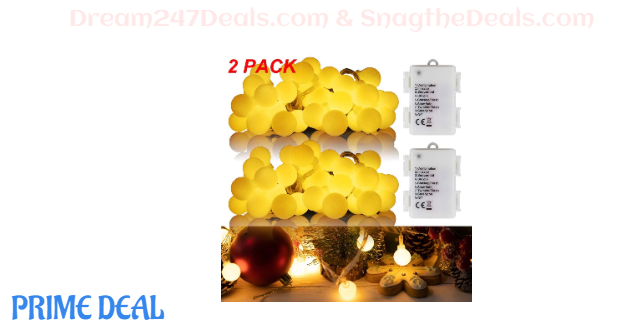 2 Pack Decorative String Lights 50% OFF