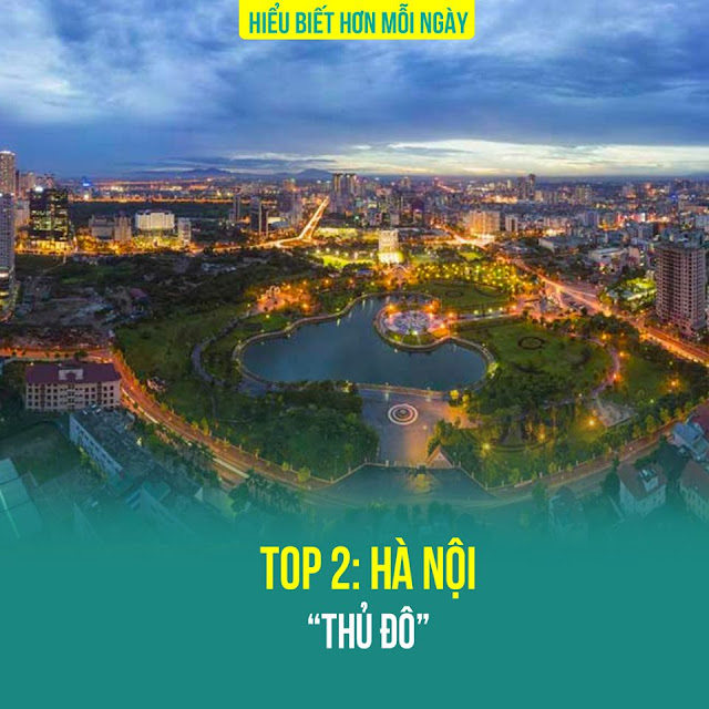 Top 2: Thành phố Hà Nội – Thủ Đô