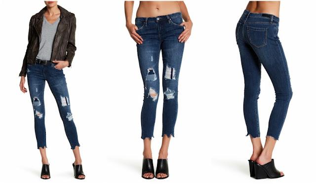 BlankNYC Distressed Raw Hem Skinny Jeans $37 (reg $88)