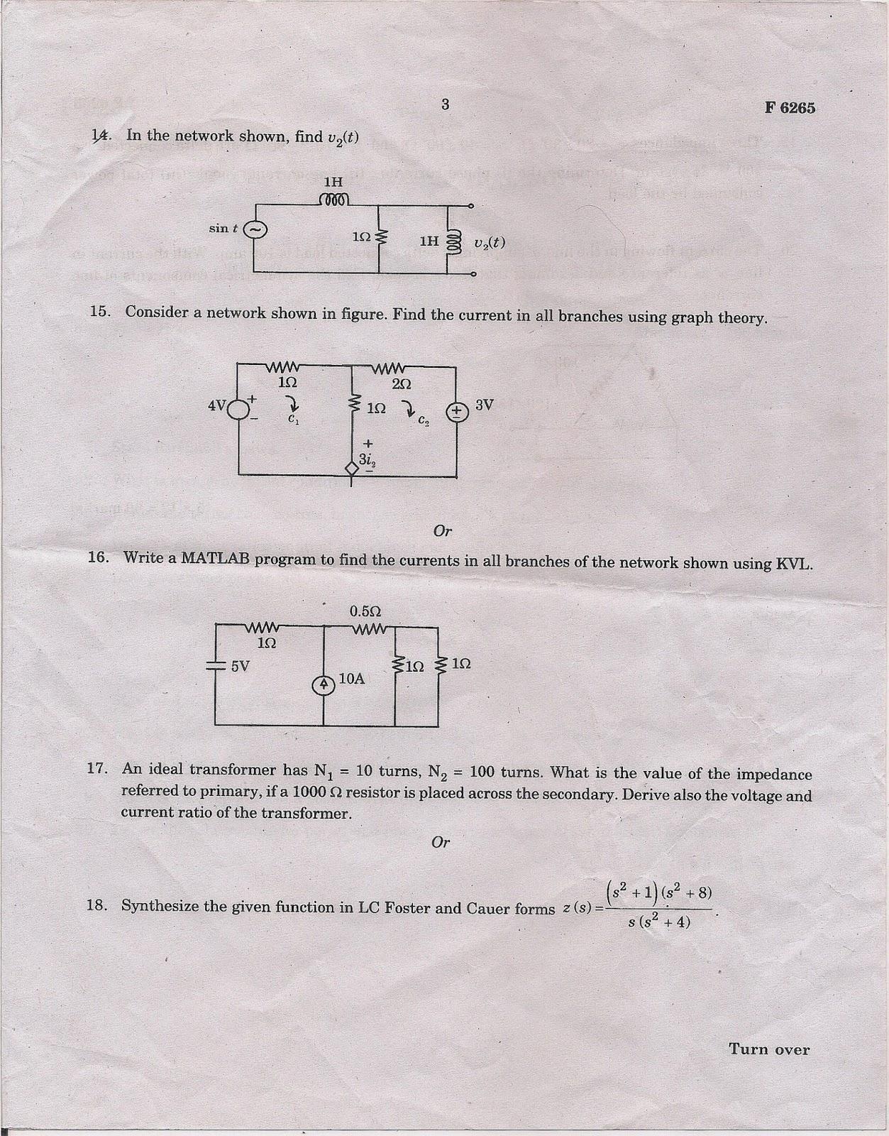 M.G University Question Papers B.Tech: M.G University EEE