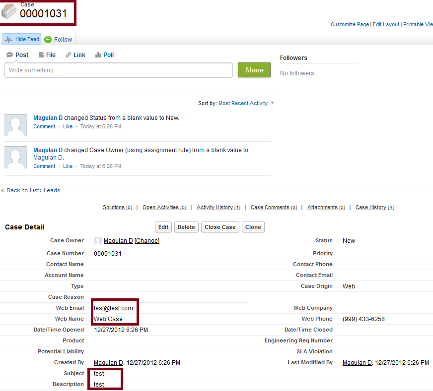 Infallible Techie: Web-to-Case in Salesforce