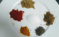 Dry Masala Ingredients for chicken fry recipe