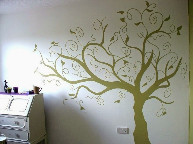 painted tree for nursery wall