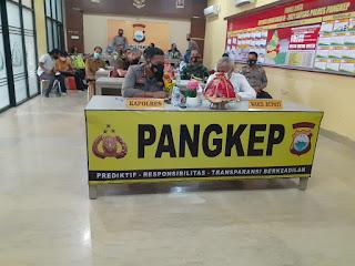 Kapolres Pangkep Ikuti  Launching Elektronic Traffic Law Enforcement (ETLE)