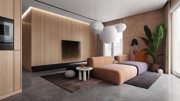 استخدام اللون البني في ديكور البيت