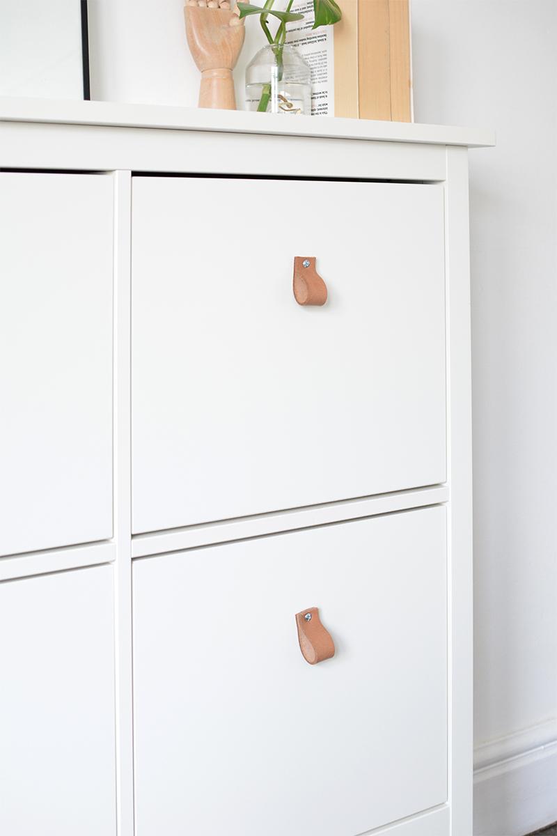 IKEA HACK leather handles