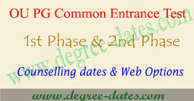 OUCET certificate verification dates 2017 web options counselling ou pgcet