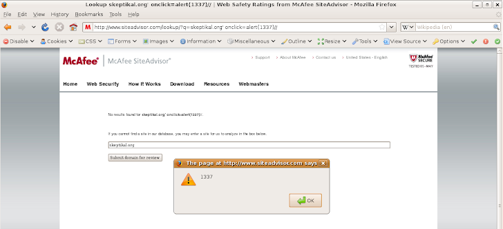 Multiple Vulnerability in McAfee Website , XSS and Other Attacks !