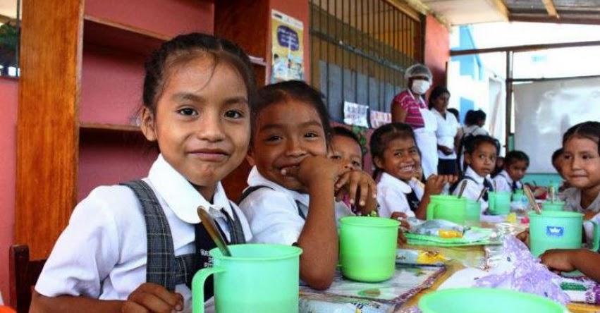 Amplían vigencia del Programa Nacional de Alimentación Escolar Qali Warma hasta el 31 de diciembre de 2022
