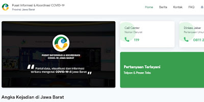 Website Resmi Info Corona Jawa Barat : https://pikobar.jabarprov.go.id/
