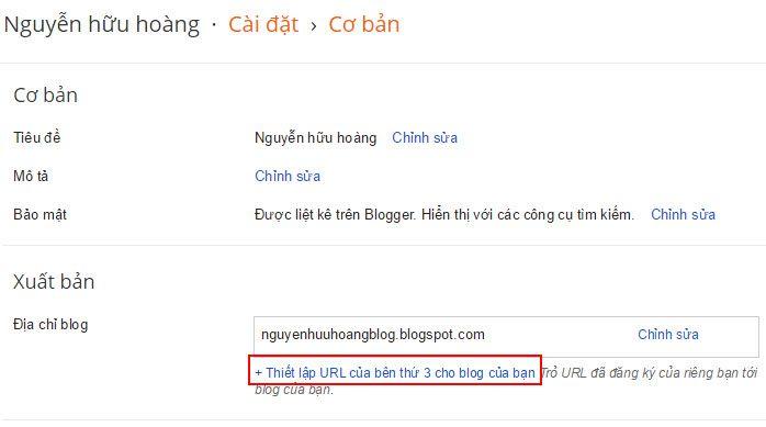 Hướng dẫn cài đặt trỏ tên miền cho Blogger - 2