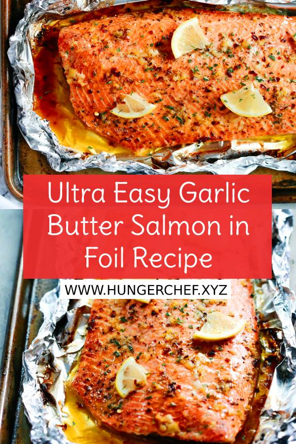 This Ultra Easy Garlic Butter Salmon in Foil is a flavourful dinner to make during your busy weeknights. It's ready in less than 30 minutes and is delicious with salads. #salmonrecipe #easysalmonrecipe #bestsalmonrecipe #whole30 #whole30recipe #weeknightdinner #easydinnerrecipe #bestdinnerrecipe #dish #maindish #dinnerecipe