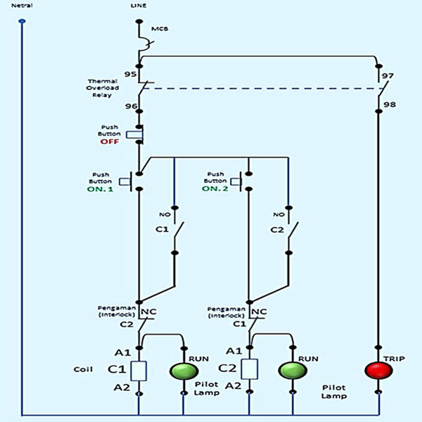 Wiring Diagram Forward Reverse For 3 Phase Motor My Electrical Diary