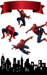 Spiderman Película: oppers para Tartas, Tortas, Pasteles, Bizcochos o Cakes para Imprimir Gratis.