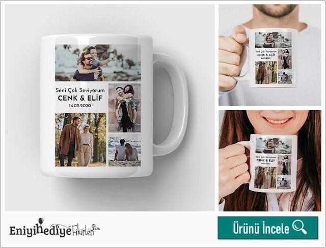 Sevgililere Özel 4 Fotoğraflı Kupa Bardak