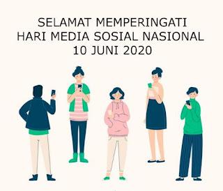 ucapan hari media sosial nasional 10 juni 2020 - twitter