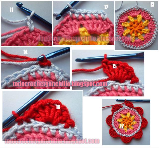 Como tejer flor crochet