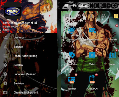BBM Zorro One Piece APK v3.1.0.13 MOD Terbaru