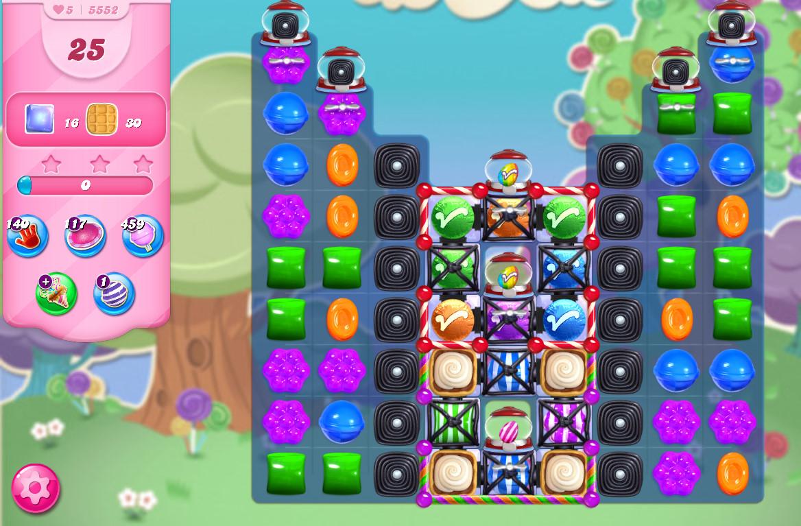 Candy Crush Saga level 5552