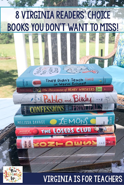 The Virginia Readers' Choice elementary chapter books are always a bit hit. These 8 books make reading fun for all ages!