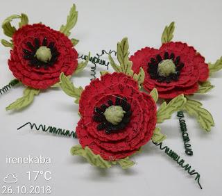 Kwiatki z papieru i z foamiranu