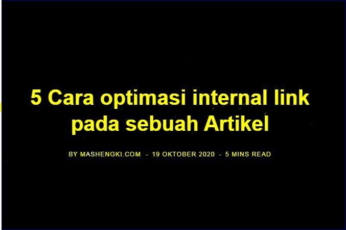 Cara optimasi internal link