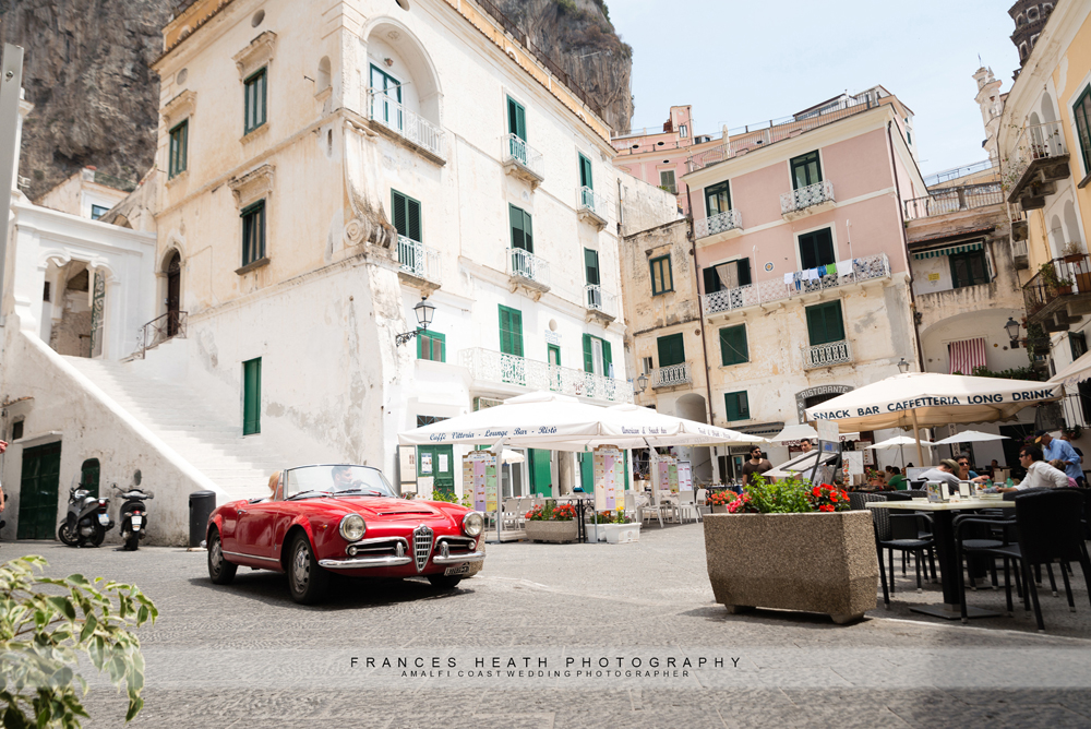 Alfa Romeo car in Atrani