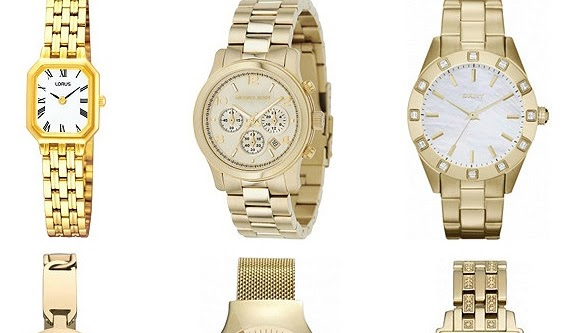 Wishlist: Gold Tone Steel Bracelet Watch