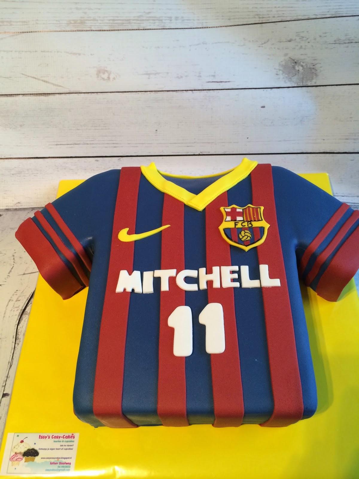 barcelona taart Taart bij Essy's Cosy Cakes: Barcelona t shirt taart barcelona taart