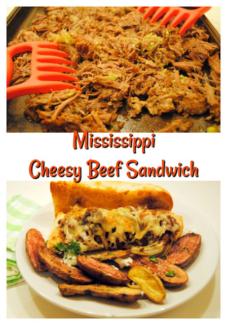 Mississippi Cheesy Beef Sandwich at Miz Helen's Country Cottage