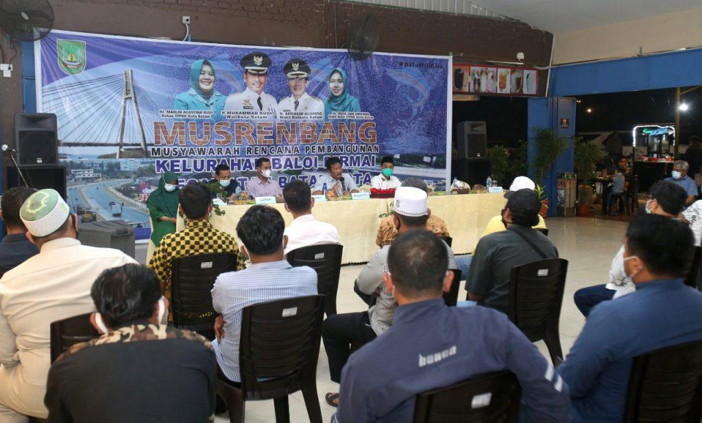 Walikota Batam Membuka Musrenbang Tingkat Kelurahan Baloi Permai