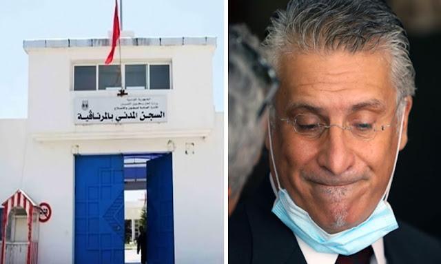 Tunisie: Nabil Karoui rentre à la prison d'El Mornaguia