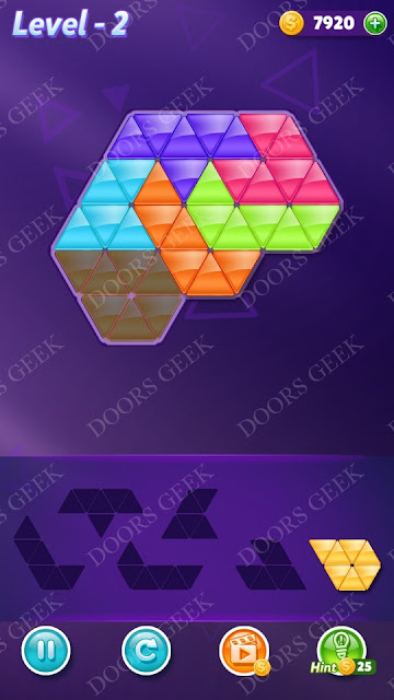Block! Triangle Puzzle Intermediate Level 2 Solution, Cheats, Walkthrough for Android, iPhone, iPad and iPod