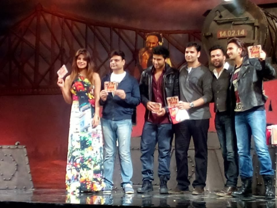 Priyanka, Ranveer and Arjun attend the Gunday Music Launch
