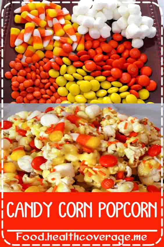 Our Candy Corn Popcorn will be popular with kids and adults alike. So easy to make this sweet and salty Halloween Treat is super delicious and fun to eat.