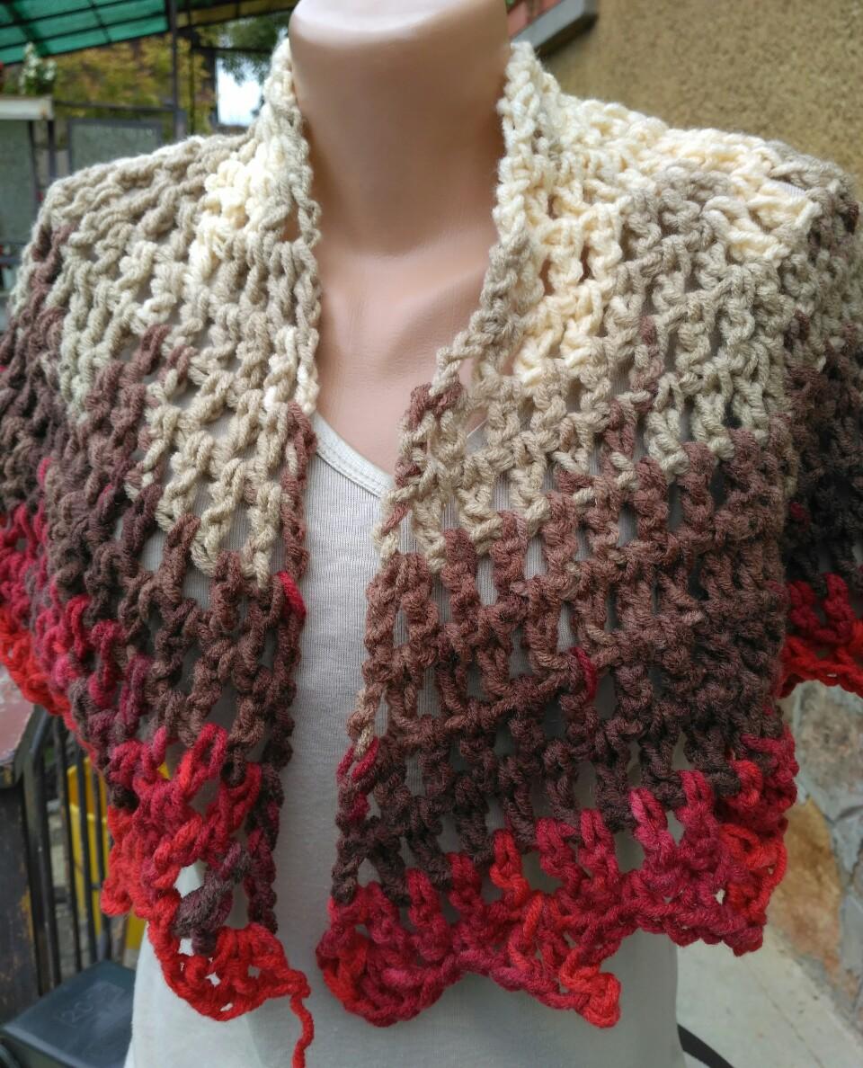 Tanulj horgolni!: All shawl vastag fonalbl